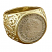 Spanish half reale coin gold ring