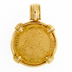 Spanish Gold Bust - Two Escudos