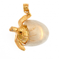 Hatching Turtle Pendant
