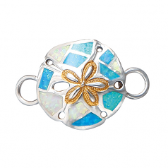Sterling Sand Dollar Bracelet Topper