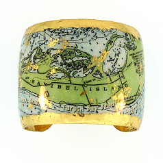 """Sanibel Island Map"" Cuff by Evocateur"