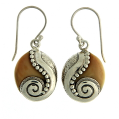 Sterling and Ivory Earrings