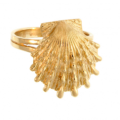 Lion's Paw Shell Ring