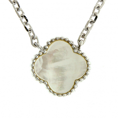 Sterling & Mother-of-Pearl Necklace