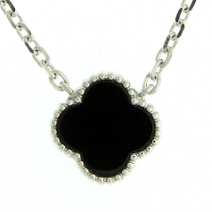 Sterling & Onyx Necklace