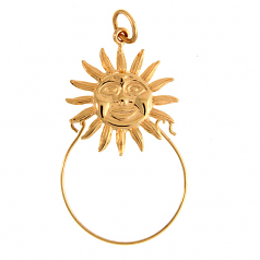 Gold Sunburst Charm Holder