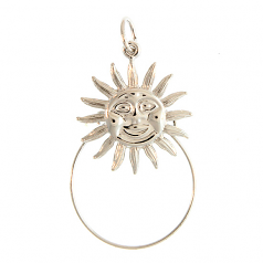 Sterling Sunburst Charm Holder
