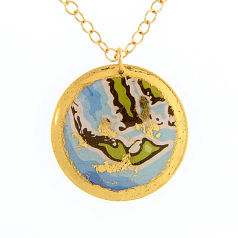 """Sanibel Island Artist Map"" Necklace by Evocateur"
