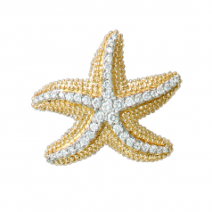 Starfish Diamond Pendant