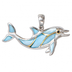 Dolphin Pendant By Kovel Jewelry