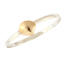Sterling and Gold Clam Shell Bracelet