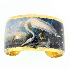 """Great Egret"" Cuff by Evocateur"