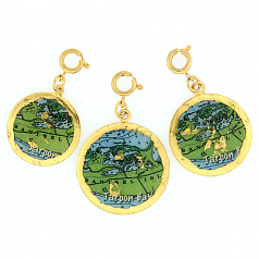 """Sanibel Island Map"" Charm by Evocateur"