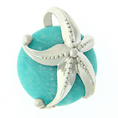 Sterling Starfish on Amazonite