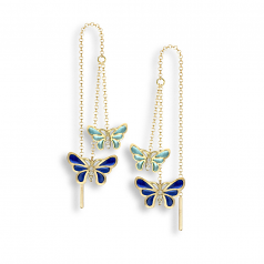 Double Butterfly Threader Earrings