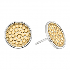 Sterling and Vermeil Disc Earrings