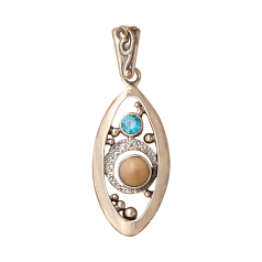 Sterling and Ivory Pendant