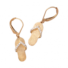Diamond Flip Flop Earrings