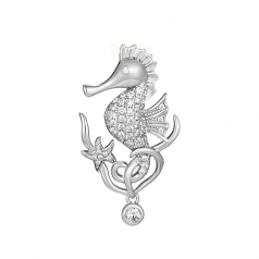 Sterling Seahorse Pendant
