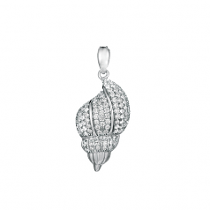Sterling Cone Shell Pendant