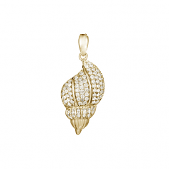 Diamond Cone Shell Pendant