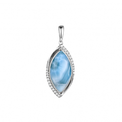 Sterling and Larimar Pendant