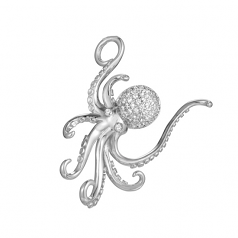 Sterling Octopus Pendant