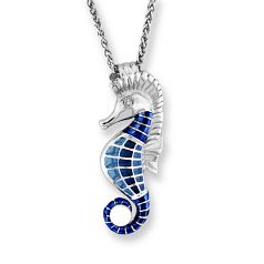 Sterling Seahorse Necklace