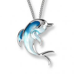 Sterling Dolphin Necklace