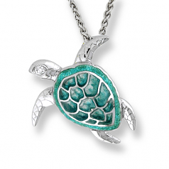 Sterling Turtle Necklace