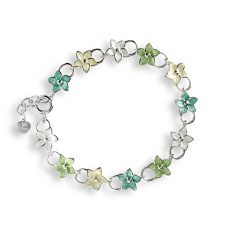 Sterling Stephanotis Flower Bracelet