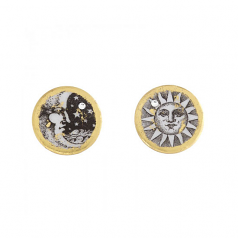 """Sun and Moon"" Earrings by Evocateur"