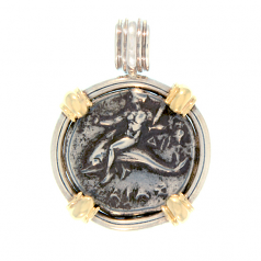"Ancient Greek Nomos ""Boy on Dolphin"" Coin Pendant"