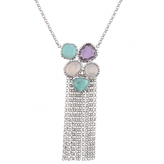 Sterling Cha Cha Necklace