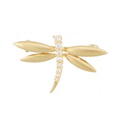 Diamond Dragonfly Pendant