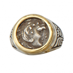 **SOLD** Ancient Celtic-Greek Silver Drachm Ring