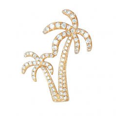 Diamond Double Palm Tree Pendant