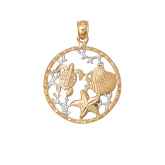 Sealife Circle Pendant