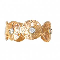 Diamond Sanddollar Band Ring