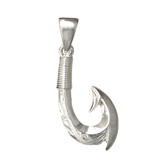 Sterling Fish Hook Pendant