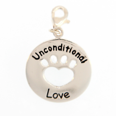 Sterling Dog Charm - Unconditional Love