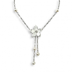 Sterling Flower Necklace