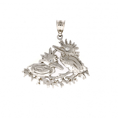 Green Heron Chicks Pendant