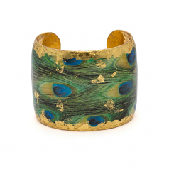 """Feathered Peacock"" Cuff by Evocateur"
