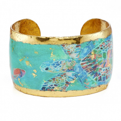 """Green Mosaic Sea Turtle"" Cuff by Evocateur"