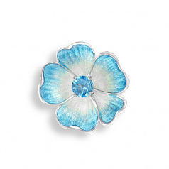 Sterling Blue Rose Pin/Pendant