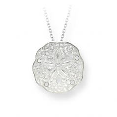 Sterling White Sanddollar Necklace