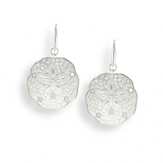 Sterling White Sanddollar Earrings