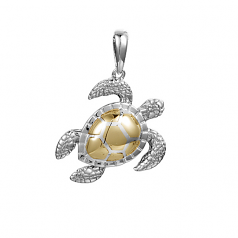 Sterling 3-D Turtle Pendant