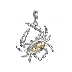 Sterling Crab Pendant